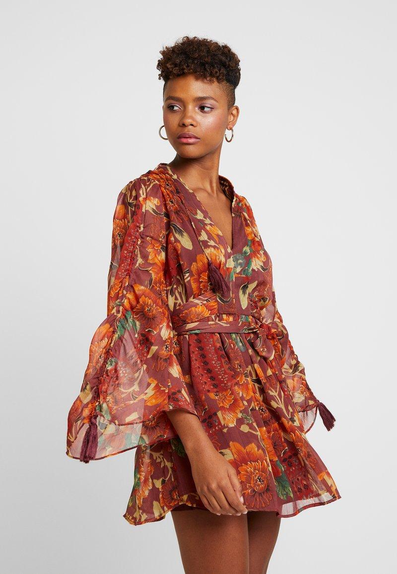 Topshop - AUTUMN FLORAL TASSEL TIE - Day dress - multi