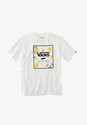 T-shirt print - white-super bloom