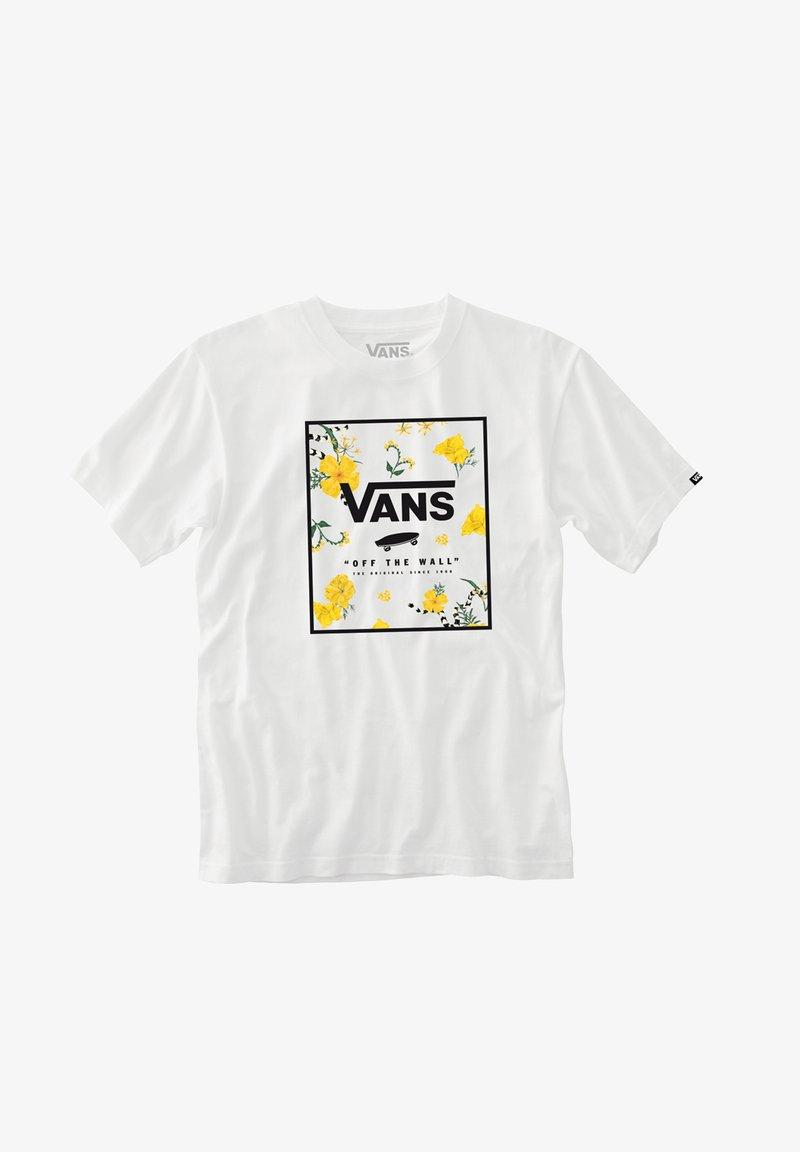 Vans - Print T-shirt - white-super bloom