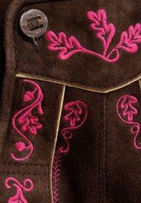 Almsach - Leather trousers - braun - 3
