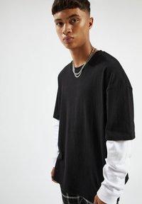 PULL&BEAR - Långärmad tröja - mottled black - 3