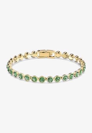 TENNIS BRACELET, GREEN, GOLD-TONE PLATED - Bracelet - gelbgold