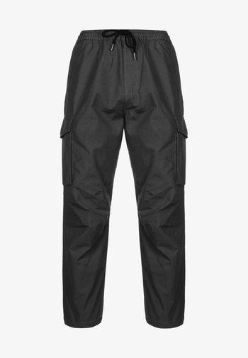 Cargo trousers - black garment enzyme wash