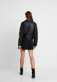 River Island - CATO JACKET - Leather jacket - black - 2