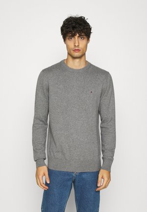 PIMA CREW NECK - Strickpullover - grey