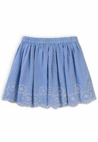 MINOTI - Pleated skirt - light blue - 1