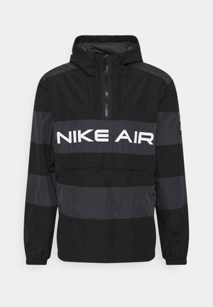 AIR ANORAK - Cortaviento - black/dark smoke grey