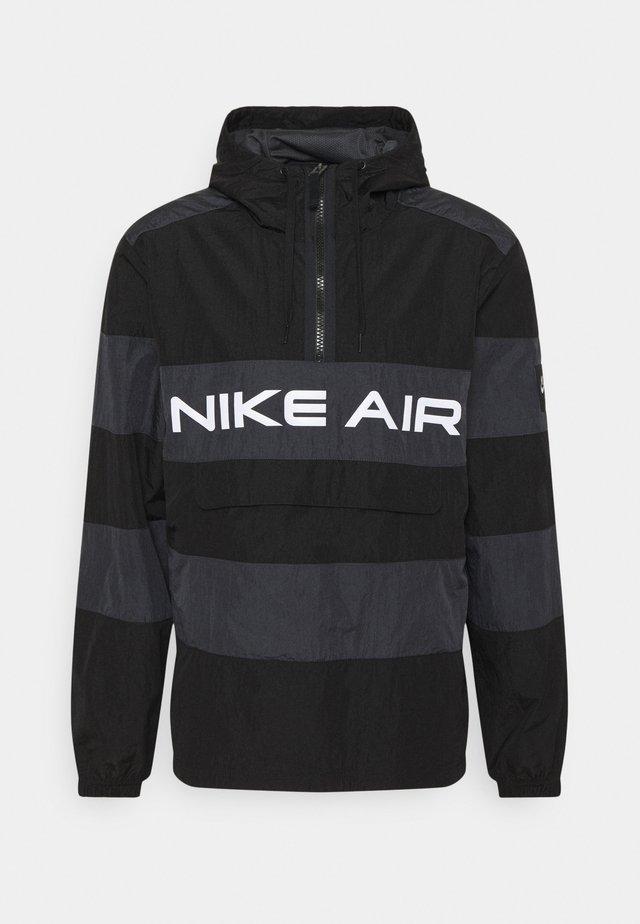 AIR ANORAK - Windbreaker - black/dark smoke grey