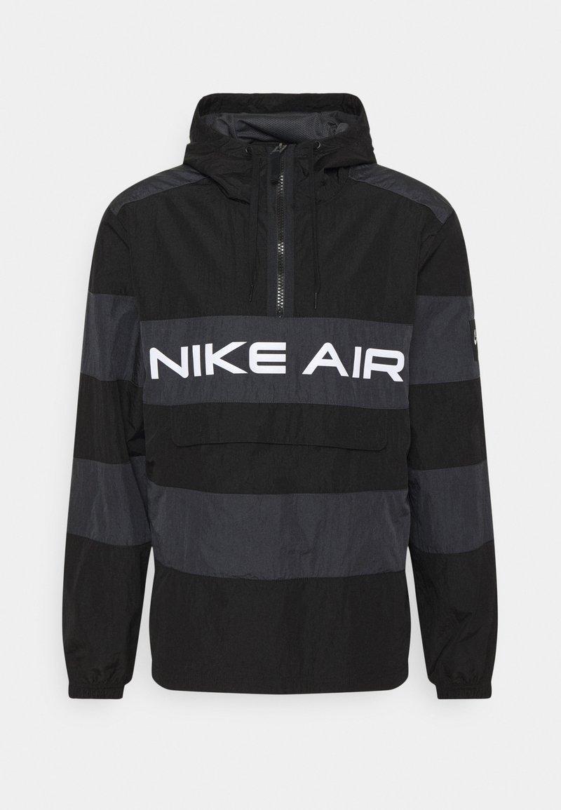 Nike Sportswear - AIR ANORAK - Windbreaker - black/dark smoke grey