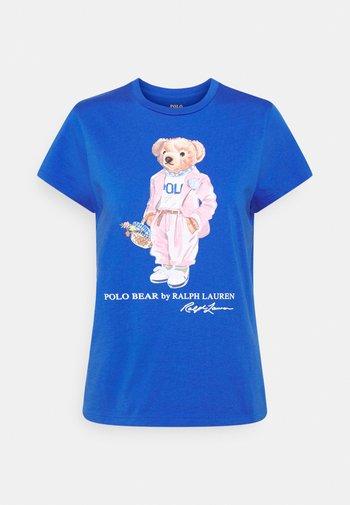 Print T-shirt - new iris blue
