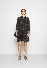 DESIGNERS REMIX - KIELY DRESS - Day dress - black/camel - 1