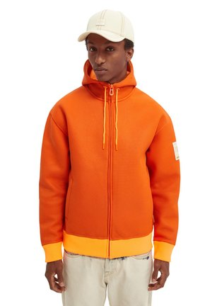 STRUCTURED FELPA - Zip-up sweatshirt - rust