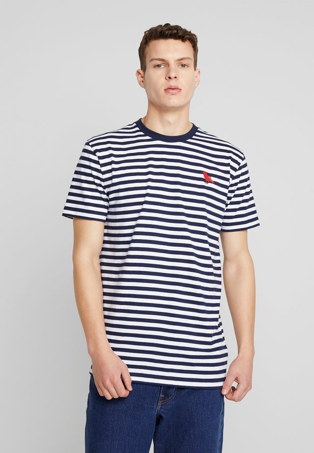 STRIPE - T-shirt print - navy