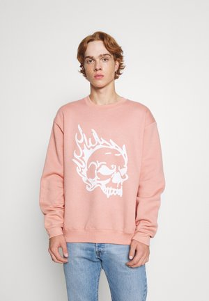 SKULL CREW - Sweater - pink