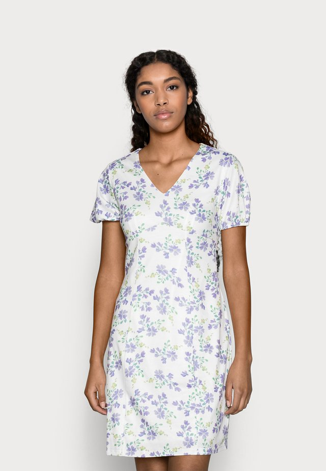 PRINTED V NECK MINI DRESS - Sukienka z dżerseju - multi