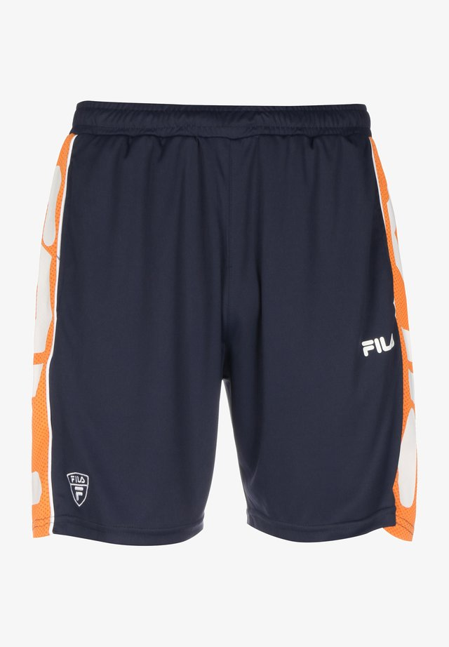 TERITUS - Shorts - black iris/mandarin orange