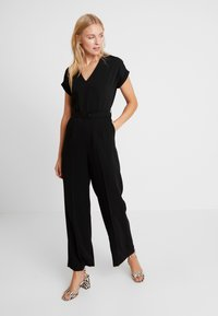 TOM TAILOR - WITH BELT - Tuta jumpsuit - deep black - 0