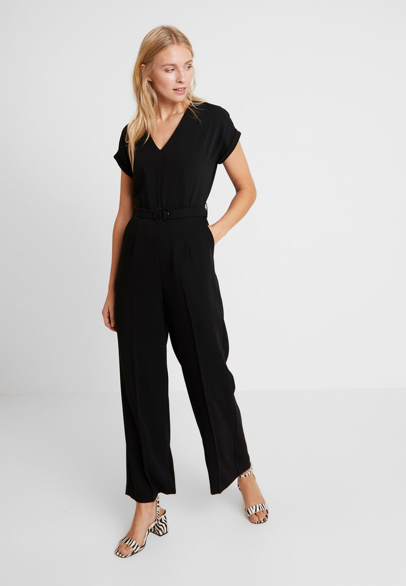 TOM TAILOR - WITH BELT - Tuta jumpsuit - deep black