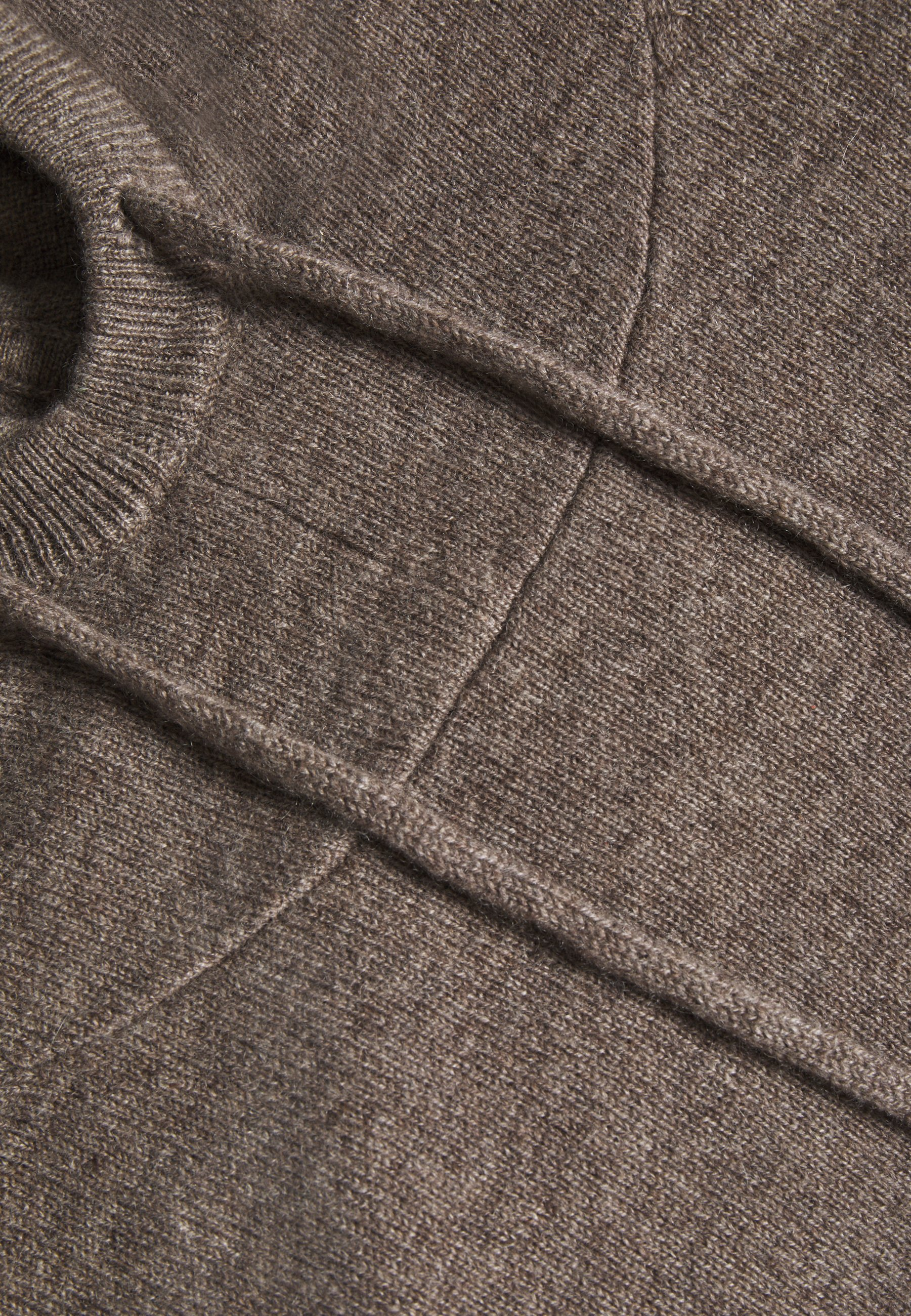 FTC Cashmere HOODY - Stickad tröja - truffle - Damjacka lpD9g
