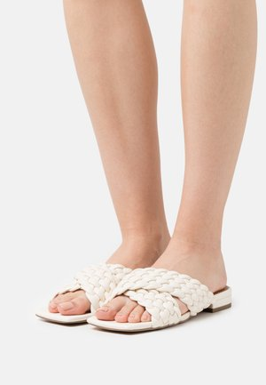 CROSSED BRAIDED FLATS - Mules - offwhite