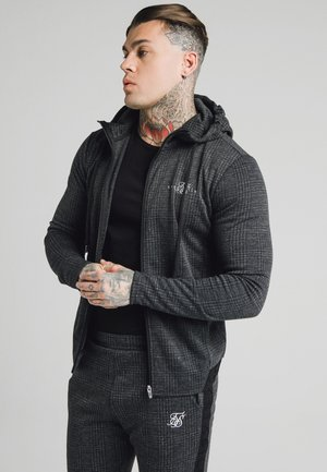 TONAL CHECK AGILITY ZIP THROUGH HOODIE - Veste légère - grey