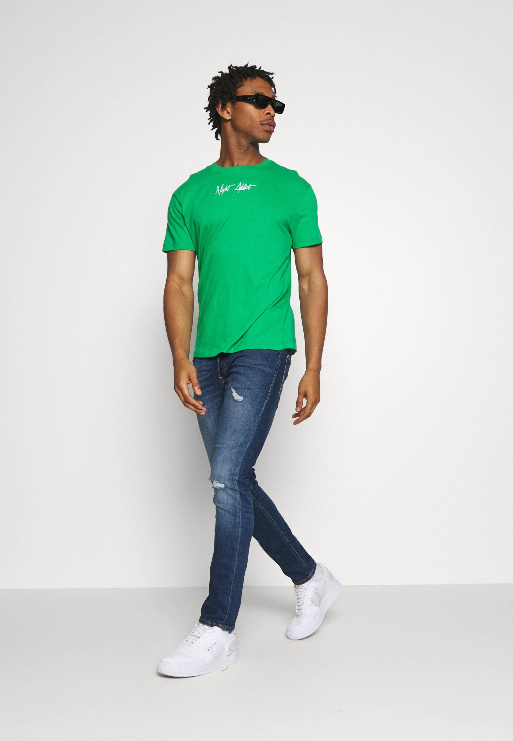 Men SNAKE - Print T-shirt
