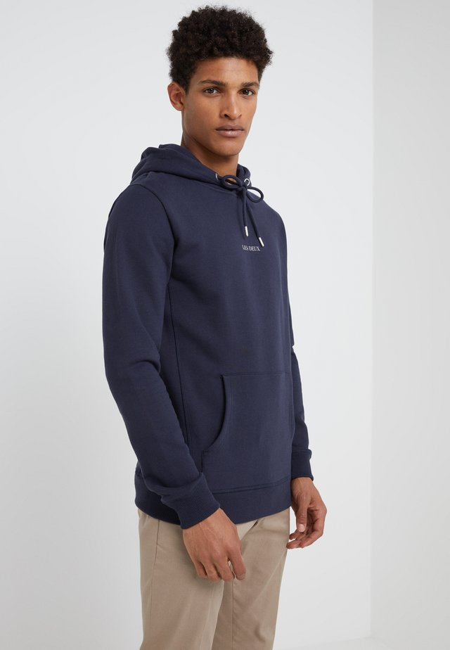 LENS HOODIE - Sweat à capuche - dark navy/white