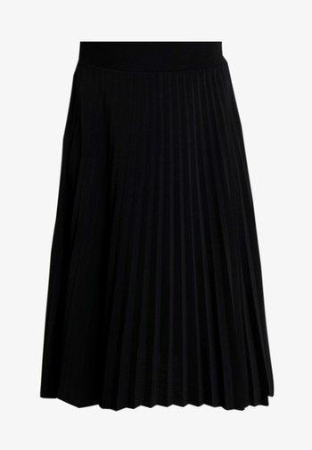 Plisse A-line mini skirt - A-line skirt - black