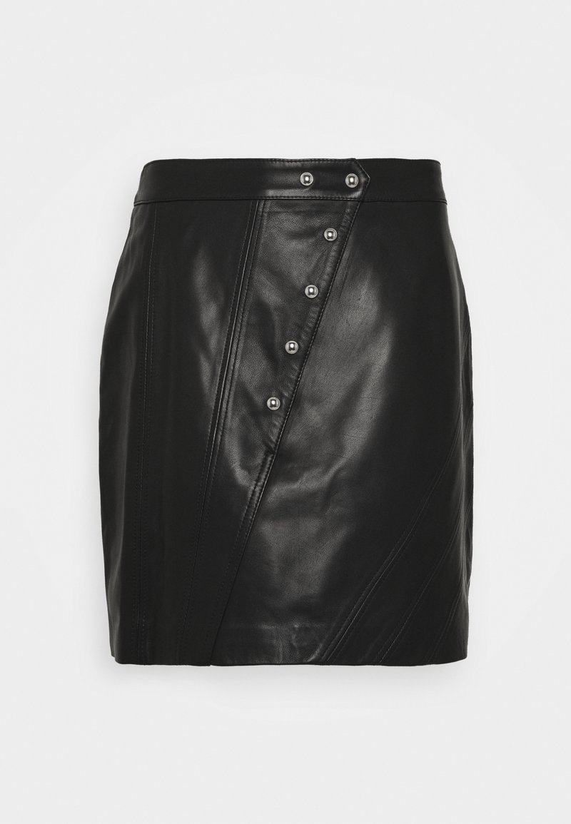 Iro - UNGA - Leather skirt - black
