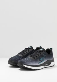 Skechers Performance - GO RUN STEADY - Walking trainers - black/turquoise - 2