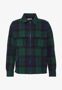 J.CREW - ZIP FRONT BLACKWATCH - Summer jacket - green black - 5