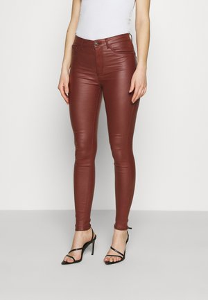 JDYNEWTHUNDER HIGH - Trousers - cherry mahogany