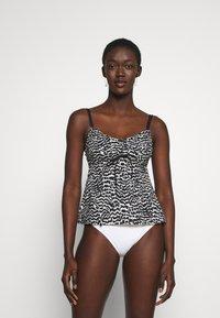 LASCANA - WIRE TANKINI - Bikini top - black/creme - 0