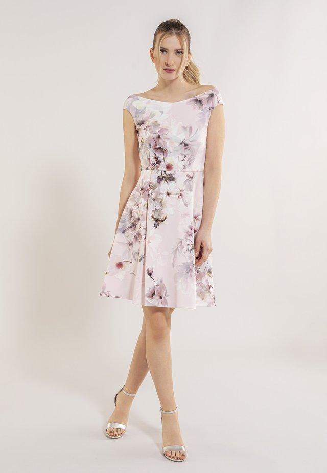 Korte jurk - light rose / multi