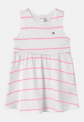 BABY STRIPED SET - Jersey dress - white