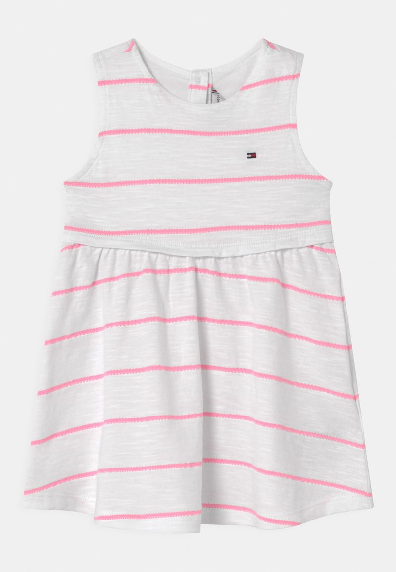 Tommy Hilfiger - BABY STRIPED SET - Jersey dress - white