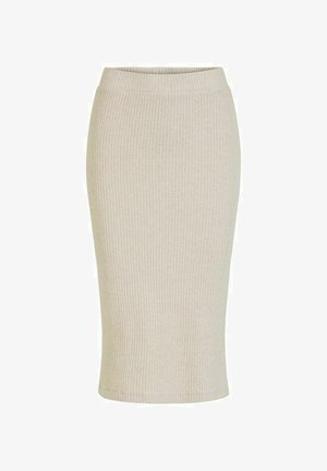 BLEISTIFTROCK   - Pencil skirt - super light natural mel