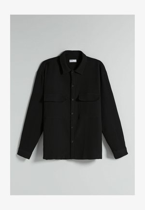 RELAXED FIT - Summer jacket - black
