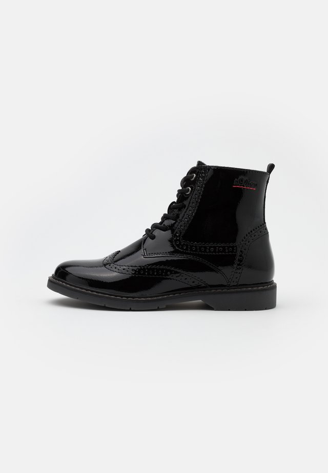 BOOTS - Bottines à lacets - black
