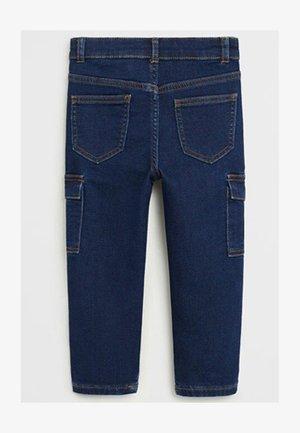 CARGO-JEANS - Slim fit jeans - dunkelblau