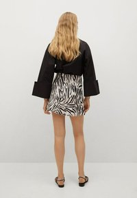 Mango - Wrap skirt - ecru - 2