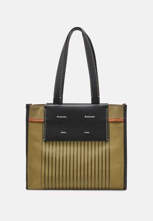 LARGE COATED TOTE - Handbag - olive