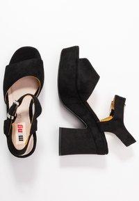 mtng - LEIRA - High heeled sandals - black - 3