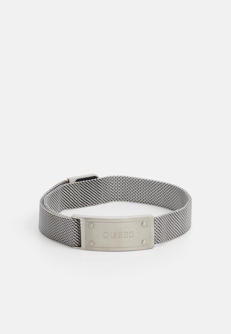 Guess - IDENTITY SHINY TAG UNISEX - Bracelet - silver-coloured