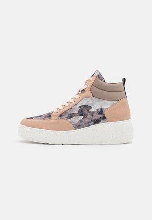 Sneakersy wysokie - taupe/beig
