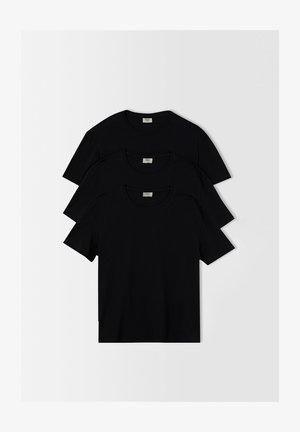 3 PACK - T-paita - black