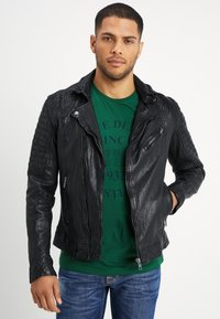 Be Edgy - BESPACE - Leather jacket - black - 0