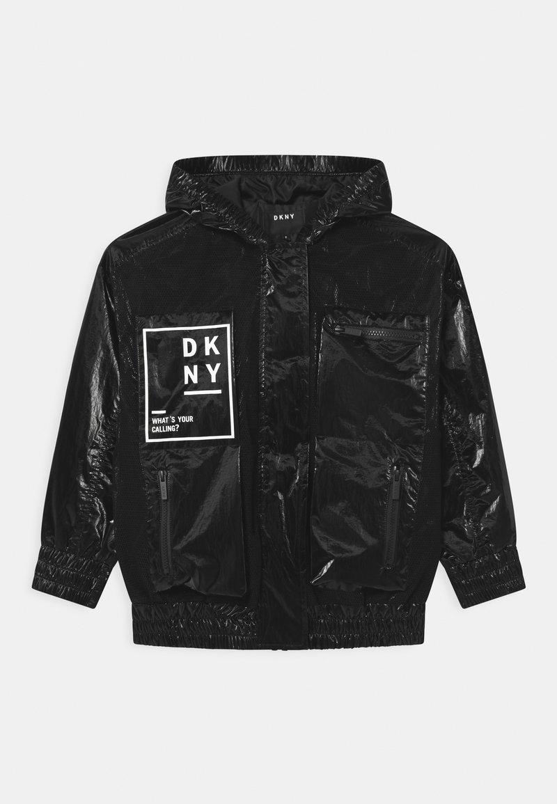 DKNY - HOODED  - Light jacket - black