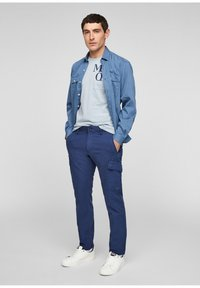 s.Oliver - Cargo trousers - blue - 1