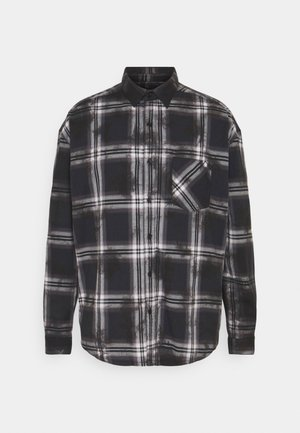 DIP DYE CHECK - Shirt - black